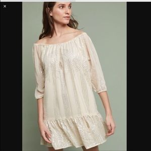 Anthropologie | Beaded Sands Swing Dress